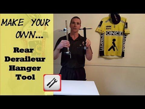 Homemade rear derailleur hanger tool