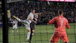 GOAL: Zlatan Ibrahimovic header puts the LA Galaxy ahead on LAFC