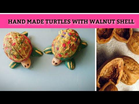 ●Turtle with walnut shells | DIY Easy ideas with walnut shells | Make Tortoise with shell