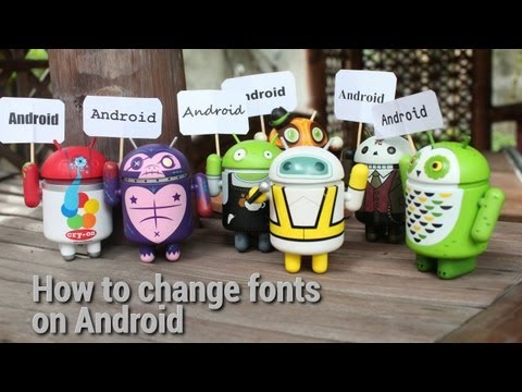 How to change fonts on Android