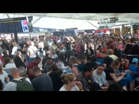 Lightning strike causes Stansted Airport chaos | ITV News