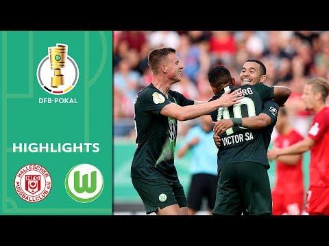 Insane 8-Goal-Thriller | Hallescher FC vs. VfL Wolfsburg 3-5 | Highlights | DFB-Pokal | 1st Round