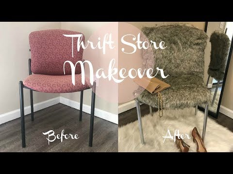DIY | Fur Chair Upcycle | $1 Thrift Store Makeover