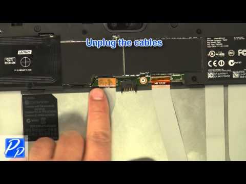 Dell Venue 11 Pro  (5130) Mini-HDMI Port Circuit Board Replacement Video Tutorial Teardown