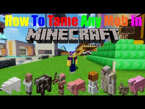 How to Tame ANY Mob! | Minecraft 1.10+