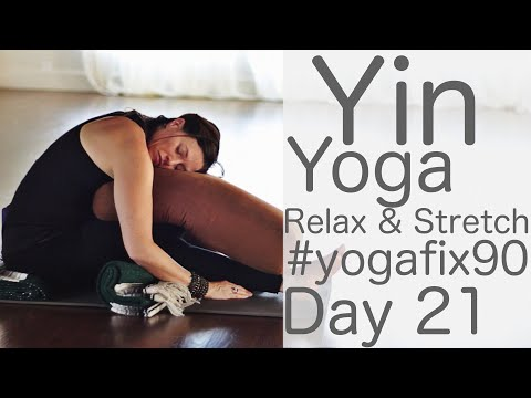 33 Minute Yin Yoga to Relax and Stretch Day 21 Yoga Fix 90 with Fightmaster Yoga