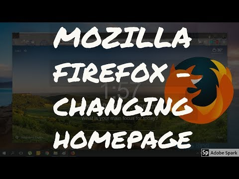 Changing Homepage in Mozilla Firefox