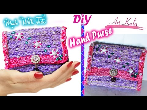 How to make a Hand Bag / Purse at Home   DIY Jute handbags   Artkala