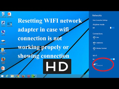 Reset Wifi adapter settings using CMD if WIfi is not working properly
