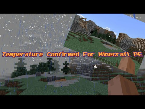 Minecraft PE Update News - Temperature Confirmed For Minecraft PE 1.2