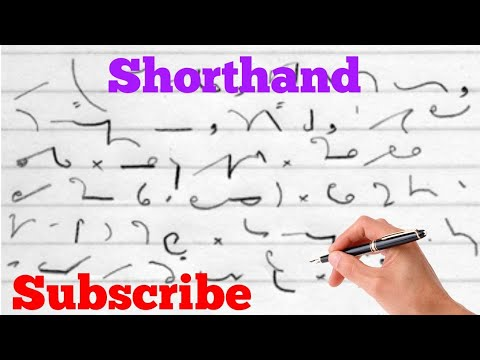 Learn shorthand phrases quickly(important outlines)
