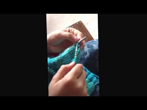 My 7 Years-Old Daughter Is Learning How To Knit!