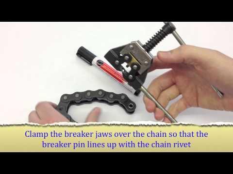 BearingShopUK - Splitting a Chain with a Chain Breaker