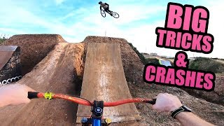 THIS BIKE PARK IS SO SICK - BIG TRICKS AND CRASHES!