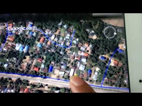 Google Earth On IPAD  ดูภาพบน Steet View