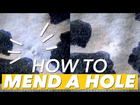 How to Mend a Small Hole | WITHWENDY