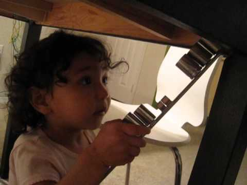 Alessandra learns to use a socket wrench