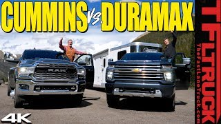 Does the 2020 Chevy Silverado HD Duramax CRUSH the Ram Cummins on the World's Toughest Towing Test?