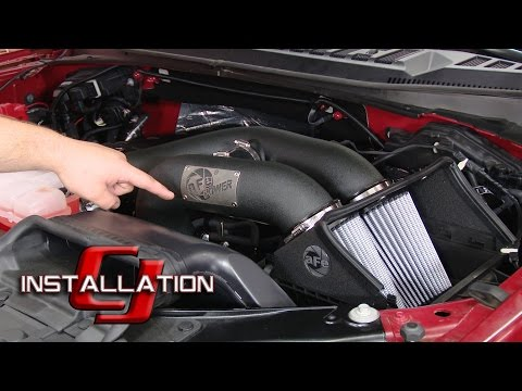 F-150 aFe Cold Air Intake Magnum Force w/Pro Dry S Filters EcoBoost 2.7L/3.5L 2015-16 Installation