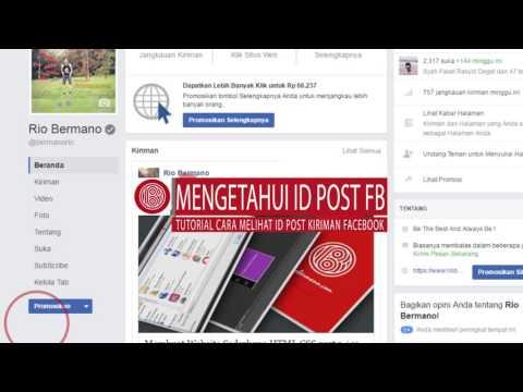 Cara Mengetahui ID Kiriman (Status) Facebook