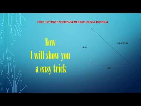 trick to find hypotenuse in right-angle triangle