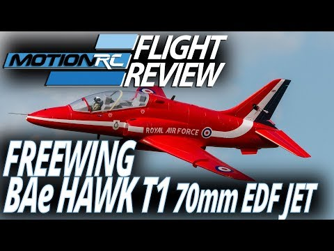 Freewing BAe Hawk T1 70mm EDF Jet - Flight Review - MotionRC