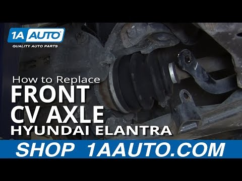 How To Install replace Front CV Joint Axle 2001-06 Hyundai Elantra