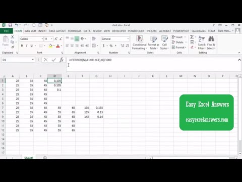 How to create a complex formula with values changing