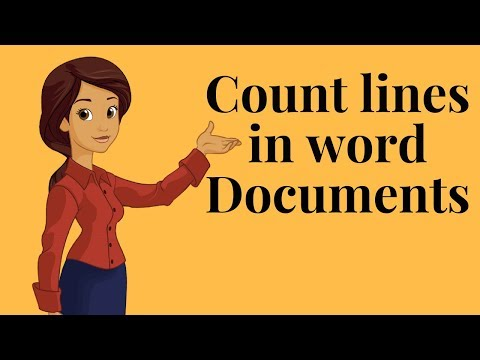 How to count lines in word documents?