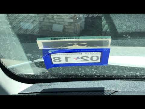 How to easily remove vehicle registration sticker from windshield