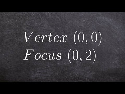 Learn how to find the equation of a parabola given focus and vertex conic sections