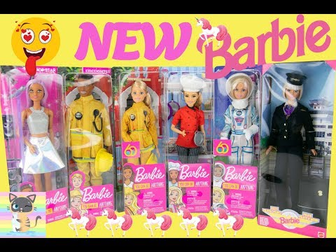 Xxx Mp4 Barbie Pilot Chef Astronaut Pop Singer Firefighter Doll New Barbie Career Dolls 3gp Sex