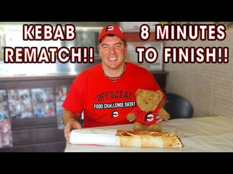 TURKISH DONER KEBAB CHALLENGE!! (REMATCH)