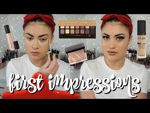 GRWM First Impressions - ABH Soft Glam, Amrezy Highlighter & More