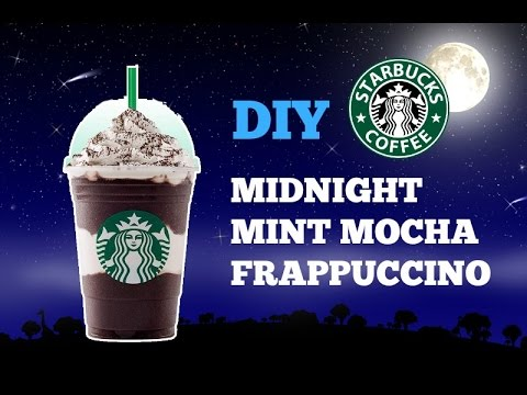 DIY STARBUCKS MIDNIGHT MINT MOCHA FRAPPUCCINO! How To Make!