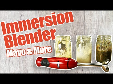 Immersion Blender Recipes - Immersion Blender Mayonnaise and More