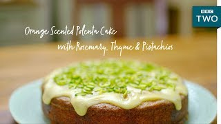 Orange Scented Polenta Cake | Nadiya