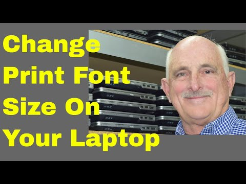 Change Print Font Size in Windows 7
