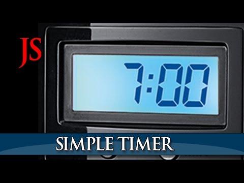 JAVASCRIPT Simple timer function