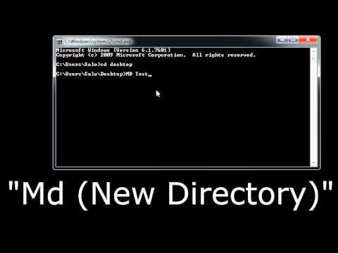 How to Create (Folder), Rename (Folder), & Remove (Folder) directories in CMD Windows 7 (Simple)