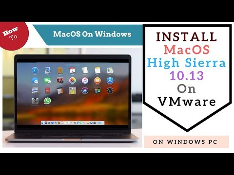Install MacOS High Sierra 10.13 on VMware 🔥Any Windows PC💻