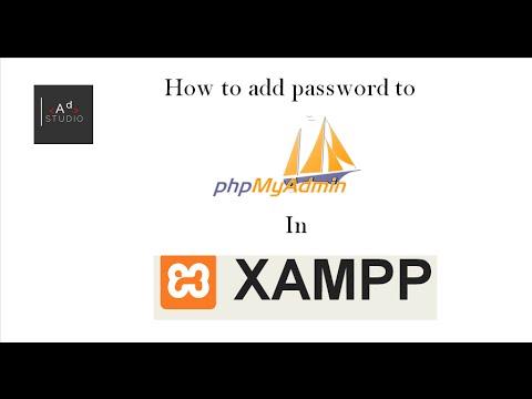 how to add password to PHPmyadmin in XAMPP setup