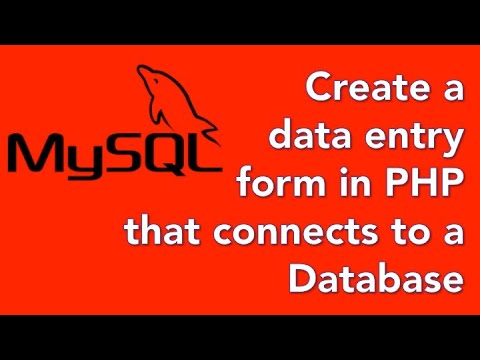 How to create a database website with PHP and mySQL 06 - Add a form to accept search requests