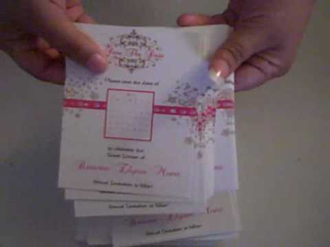 Save the date Cards with calendar Quinceanera www.eventphotocards.com