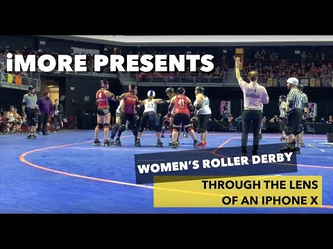iPhone X Slow Motion Tests: Women's Roller Derby Championships!