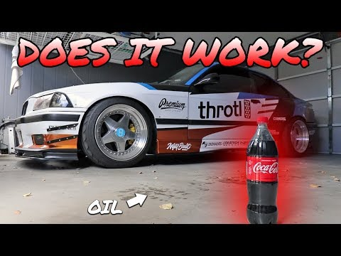 TESTING A COCA COLA HACK FOR CAR ENTHUSIASTS! - DOES IT REMOVE OIL STAINS FROM CONCRETE?