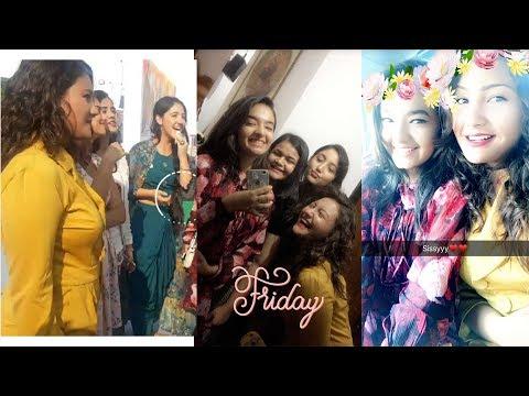 Ashnoor, Anushka, Aashika Snapchat Story Travel Legend Event Special