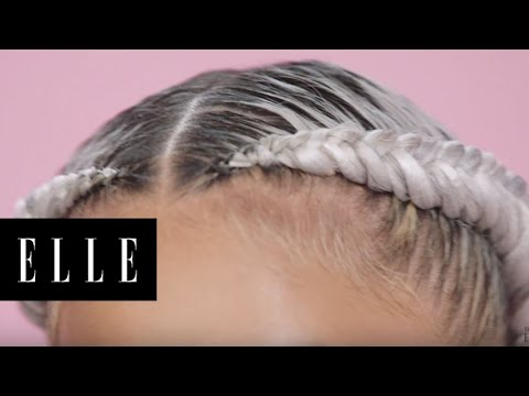 Silver Fishtail Braids with CrystalAnnRod | ELLE
