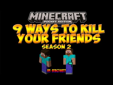 9 Ways To Kill Your Friends In Minecraft PE (Season 2)