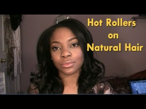 Hot Roller Set on Natural Hair